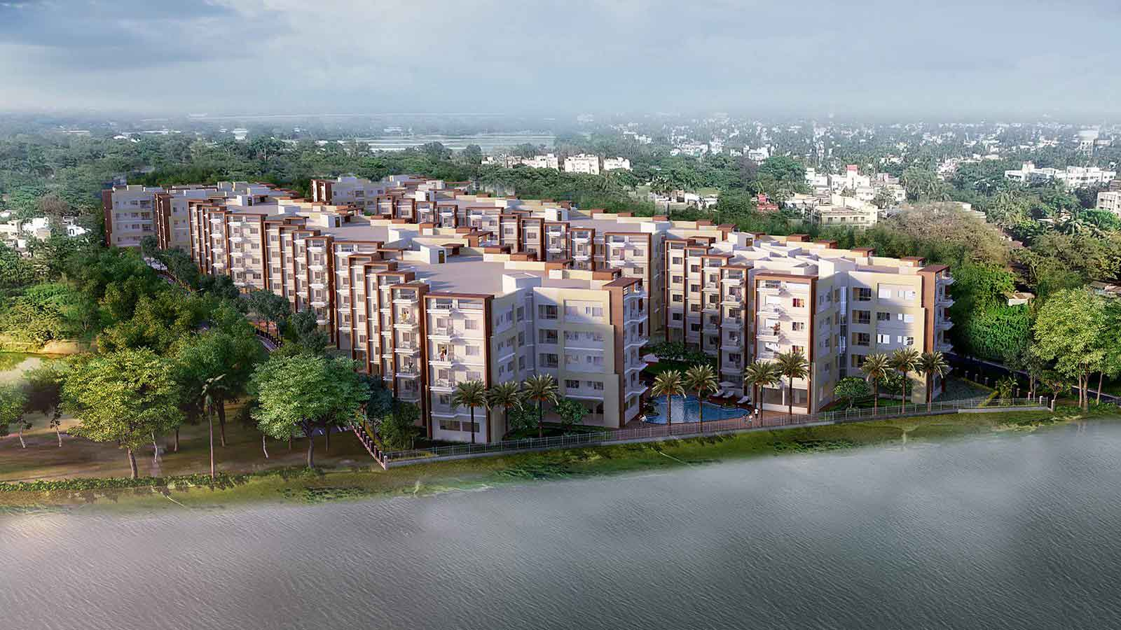 Rameswara Riverview Apartments by Ganges River