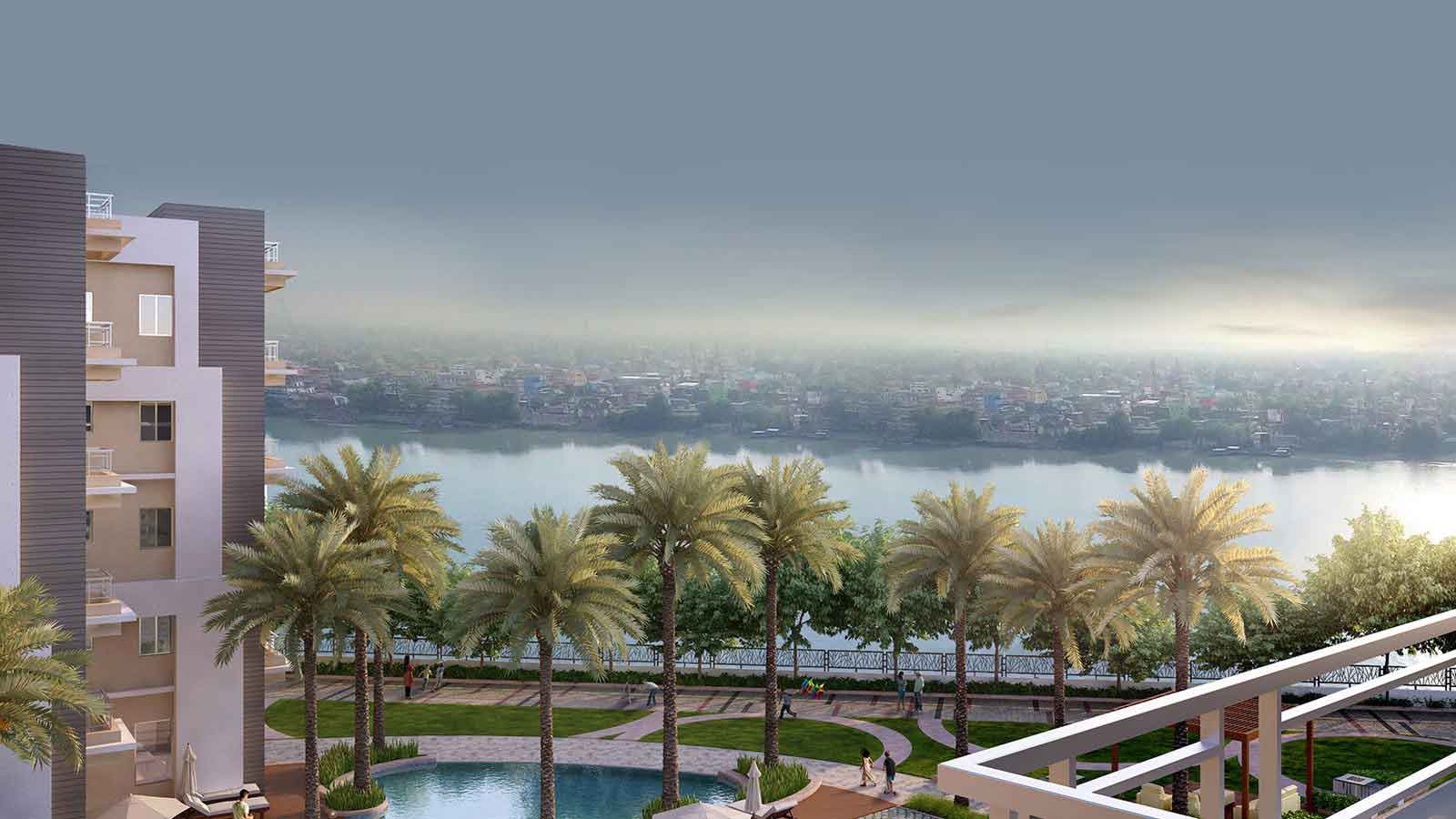 Rameswara Riverview Ganges view apartments