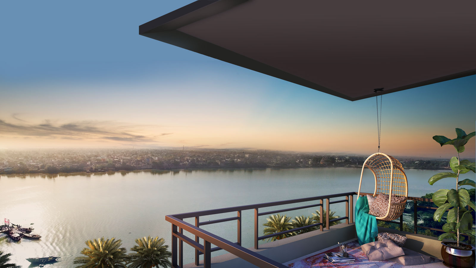 Rameswara Riverview Ganges view apartment
